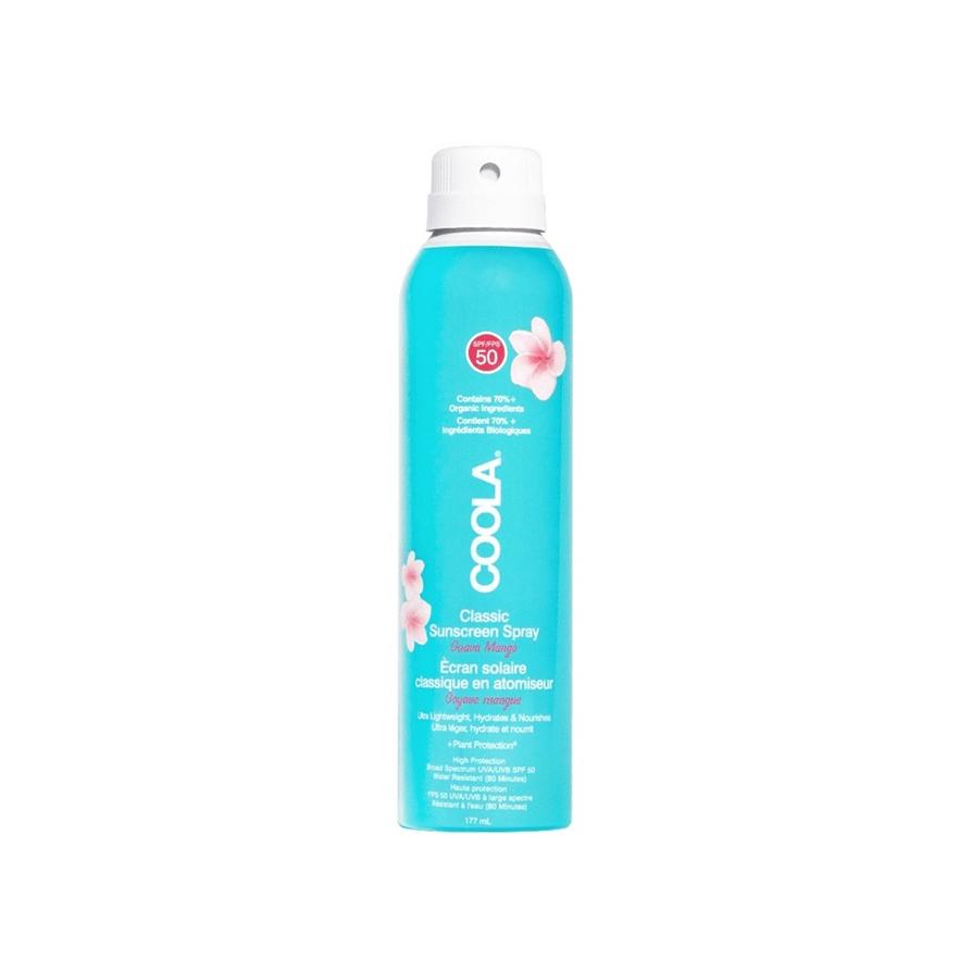 coola classic sunscreen spray guava mango