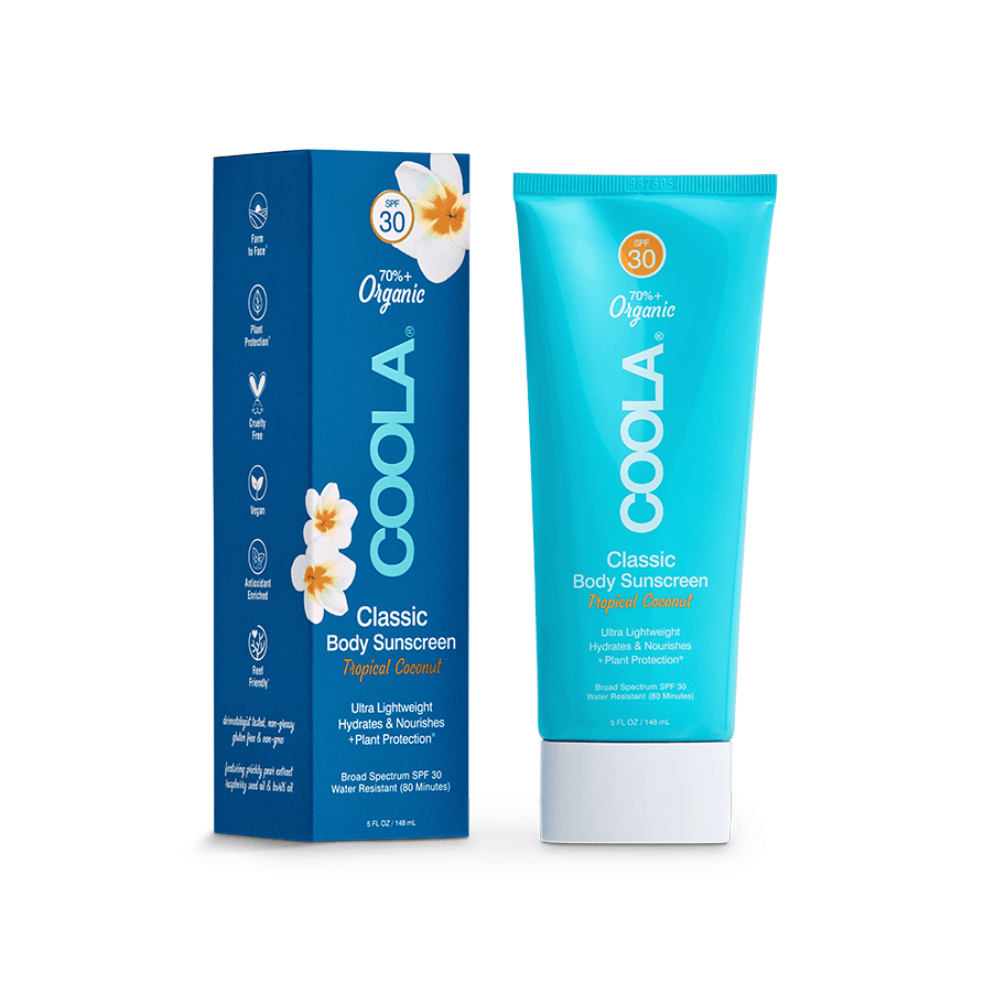 the lab coola brand classic body sunscreen coconut ftp 30