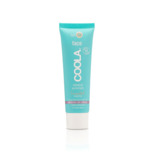 the lab coola brand mineral sunscreen unscented matte tint